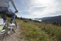 E-Bike tour with view over the lake Schluchsee